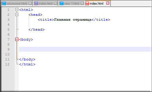 Веб страница как сделать заголовок в блокноте