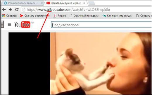 Как сделать gif из видео ютуб