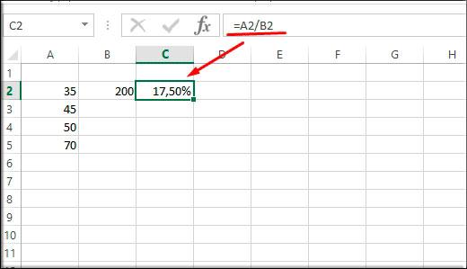 Как в excel сделать формулу в процентах в 344
