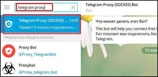 Socks5 proxy bot