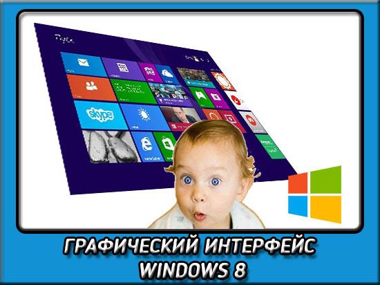 Интерфейс windows и удивленный малыш