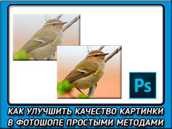 как в фотошопе улучшить качество фотографии
