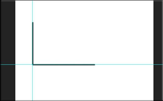 Прямые линии в фотошопе с помощью направляющих