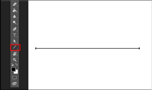 Линия с помощью фигур в фотошопе