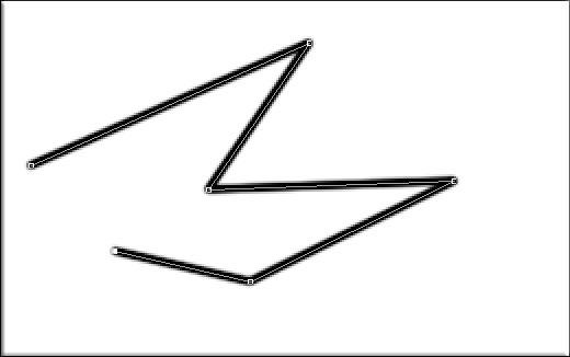 Рисование ломанных линий в фотошопе