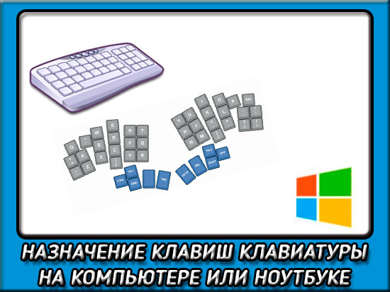 Назначение клавиш клавиатуры на компьютере или ноутбуке
