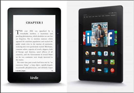 Отличия электронной книги от планшета для чтения