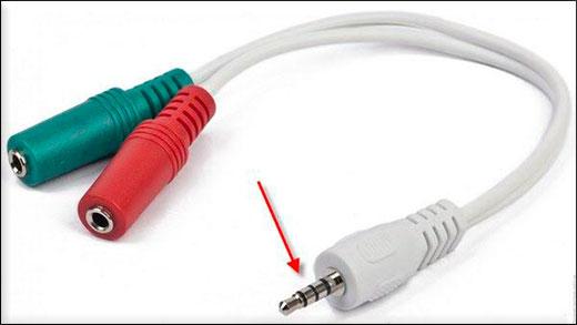 Переходник для аудиоразъема для микрофона и наушников