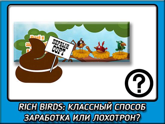 Отзыв о лохотроне Rich Birds