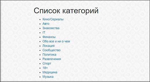 Список телеграмм каналов по категориям для вашего удобства