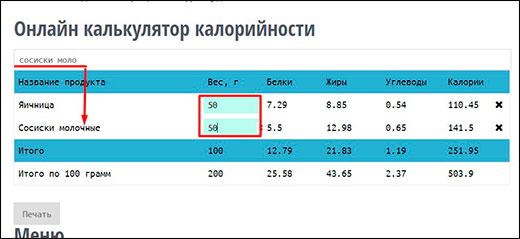 Calories calc - лучший калькулятор калорий для сайта на вордпресс