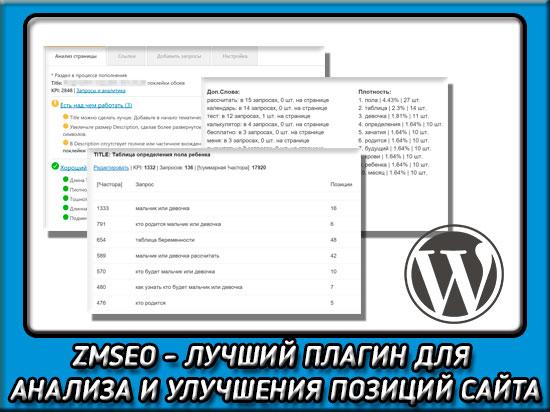 ZMSEO - плагин для вордпресс для анализа сайтов