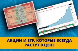 акции и ETF, которые всегда растут в цене
