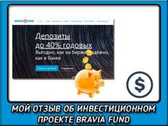 Мой обзор м отзыв о bravia fund. Что это за платформа и как она работает?