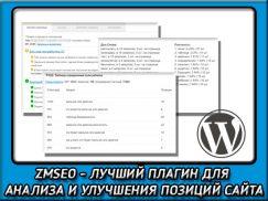 ZMSEO— лучший плагин WordPress для полного анализа всех страниц сайта. Обзор, отзыв и промокод на скидку