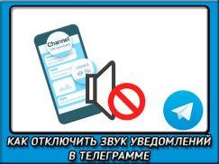 Как отключить звук уведомлений в телеграмме?