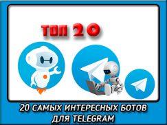 20 самых интересных ботов в telegram